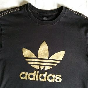 Adidas Vintage T-shirt with gold lettering XL